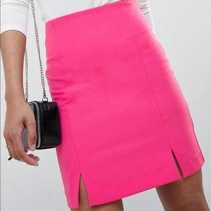 ASOS Hot Pink High Waist Mini Skirt